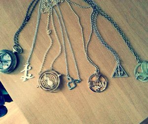 harry potter, book, and necklace image
