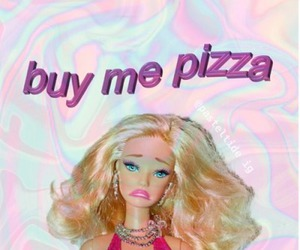 pizza, barbie, and pink image