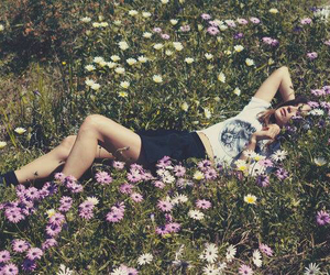 flowers, girl, and beautiful image