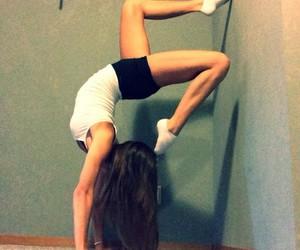 girl, flexibility, and gymnastics image