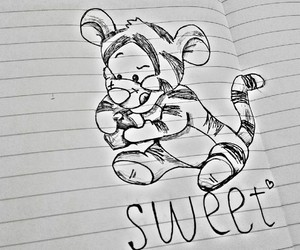 art, sweet, and tiger image