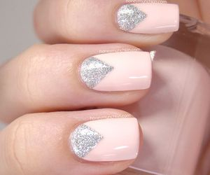nails, pink, and nail art image