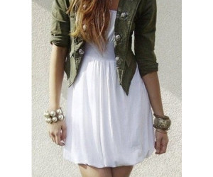 outfit, dress, and white image