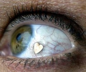 eye, heart, and look image