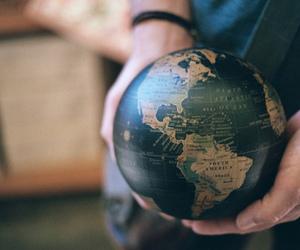 world, globe, and photography image