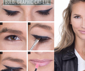 beauty, cool, and eyeliner image