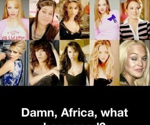 mean girls, funny, and lindsay lohan image