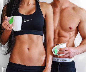 fitness, couple, and fit image