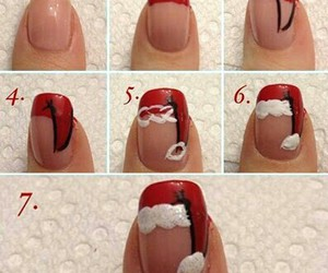 nails, santa claus, and winter image
