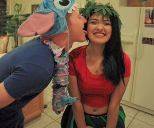 costume, lilo, and couple image