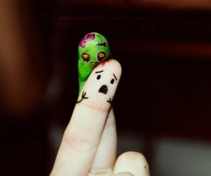 fingers, zombie, and funny image