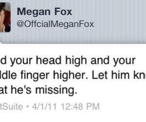 megan fox, quote, and twitter image