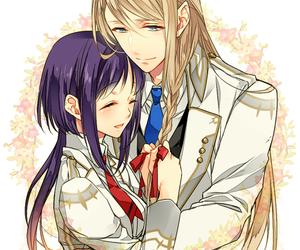 kamigami no asobi, anime, and couple image