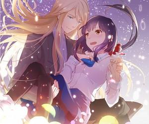 anime, couple, and kamigami no asobi image