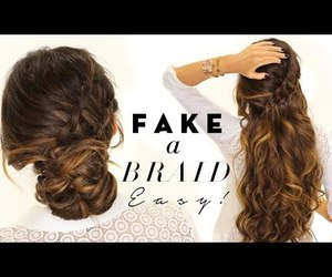 beauty, braid, and style image