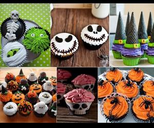 cupcakes, Halloween, and yum image
