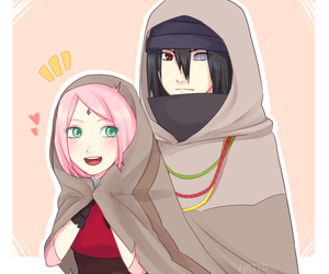 sasusaku, naruto, and anime image