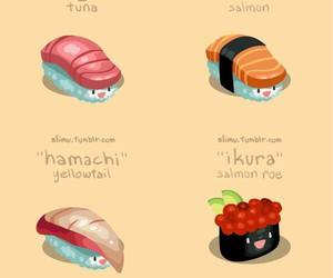 rice, sushi, and cute image