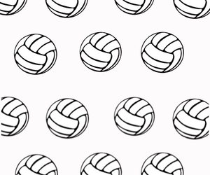background, iphone, and volleyball image