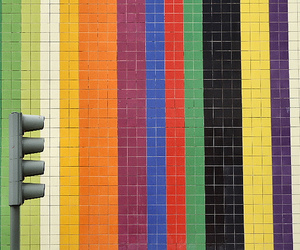 tiles, colours, and traffic lights image