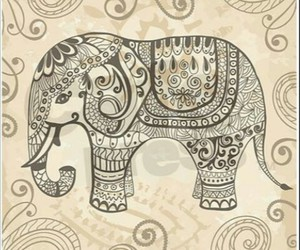 elephant, drawing, and vintage image