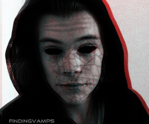 cracked, demon, and Harry Styles image