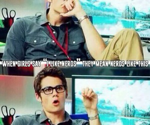 nerd, dylan o'brien, and Hot image