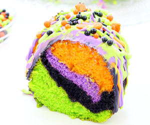 cake, colorful, and purple image