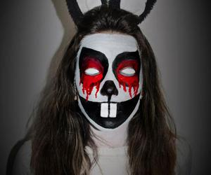 bunny, horror, and halloween make up image