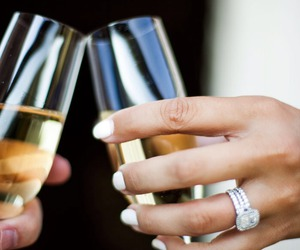 drink, ring, and wedding image