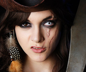 Halloween, make up, and pirate image