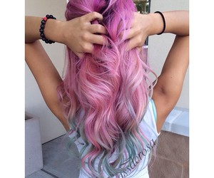colors, dyed hair, and hair image