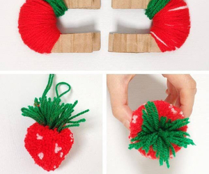 strawberry, diy, and red image