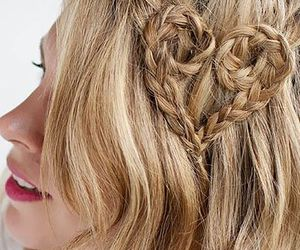 corazon, hairstyle, and trenza image