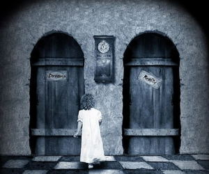 Dream, reality, and door image
