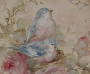 birds, pastel, and blue image