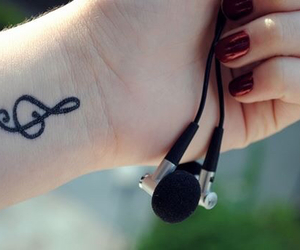 headphone, music, and nail image