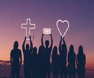 cross, love, and heart image