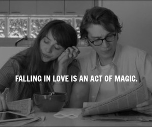 amor, black and white, and magic image
