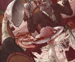 zombie, brain, and dinner image