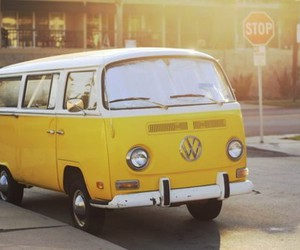 photography, yellow, and volkswagen image