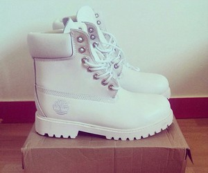 shoes, timberland, and white image