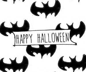 Halloween, happy, and bat image