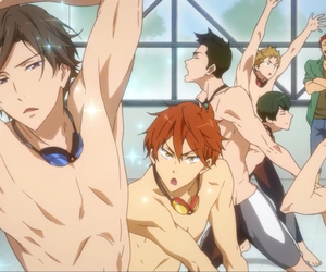 free!, swimming anime, and フリー! image