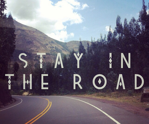 phrases, quotes, and road image