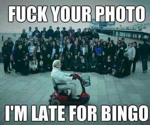 funny, bingo, and photo image