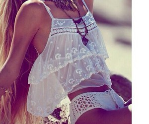summer, beach, and outfit image