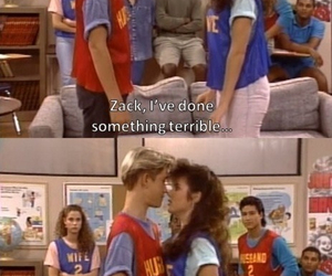 saved by the bell, couple, and kiss image
