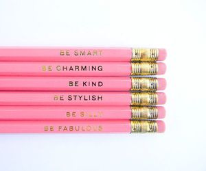 pink, pencil, and charming image