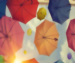 amazing, sky, and umbrellas image